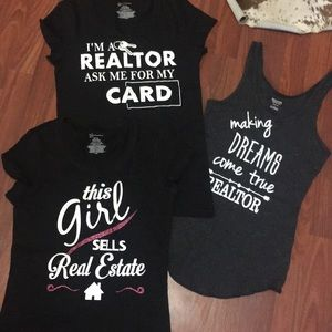 3 Realtor ladies tops. NEW size Med